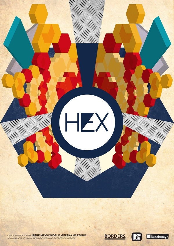 3d hexagons  HEX - Aesthetic Infographic Self Expression Book by Meyvi Widelia, via Behance