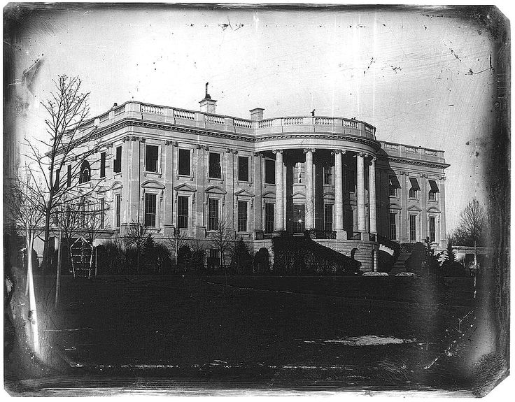 The White House taken by John Plumbe, Jr. in 1846. The 11th President of the United States , James K. Polk, was the building's occupant, having succeeded President John Tyler just the year prior.