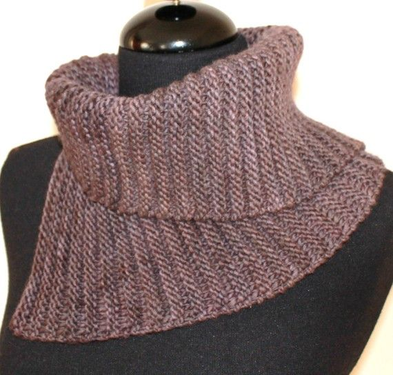 Knitting Pattern Cowl Easy : PATTERN - Cowl Neckwarmer Easy Knitting Pattern ABSOLUTE COWL