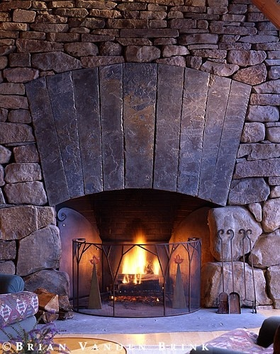 beautiful stone fireplace stone fireplaces pinterest