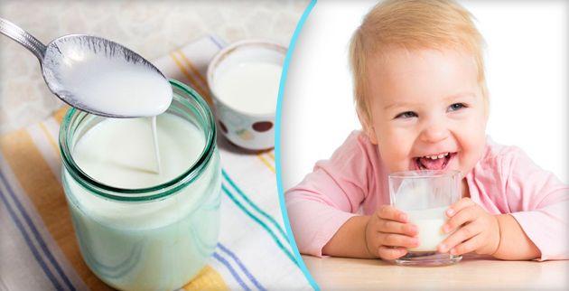 Кефир для ребенка одного года в домашних условиях