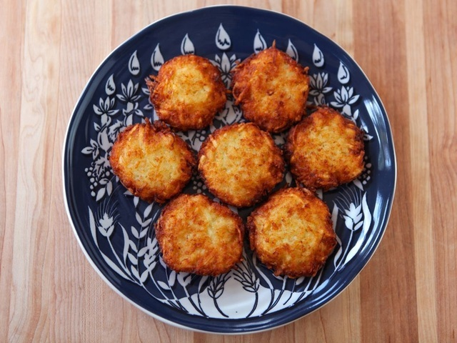 Crispy Panko Potato Latkes. During Hanukkah, it is Jewish tradition to ...