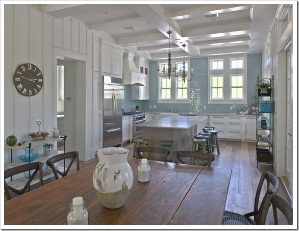 Coastal kitchens for Nautical kitchen designs
