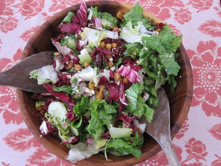 Winter Salad of Escarole and Radicchio with feta, fried chickpeas ...