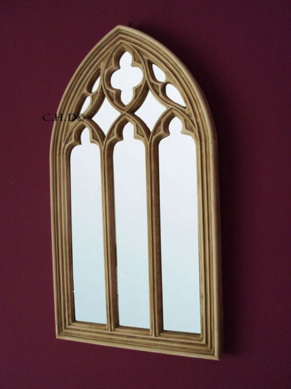 Gothic mirror church window medieval arched for Church style mirrors