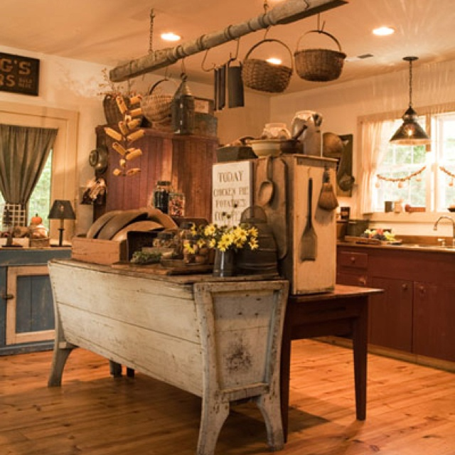 primitive kitchen kitchen design pinterest