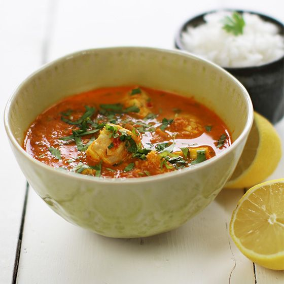 Goan Fish Curry - fish cooked in a spice paste of chilli and coconut ...