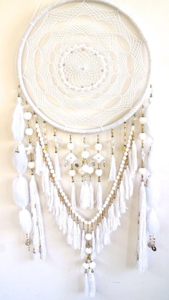 Crocheting Dream Catchers : white dreamcatcher crochet Crochet Pinterest