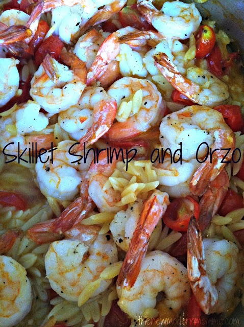 Skillet Shrimp & Orzo via @thenewmodernmom