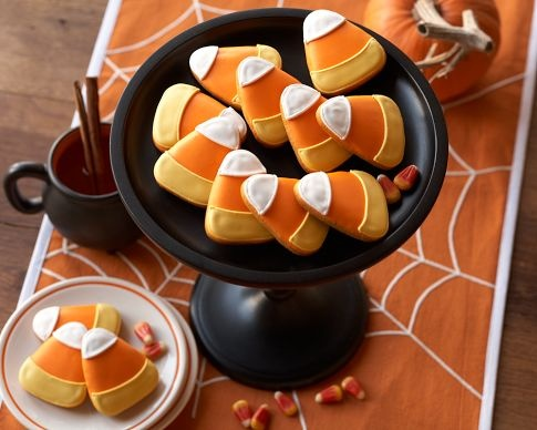 Frosted candy corn cookie idea