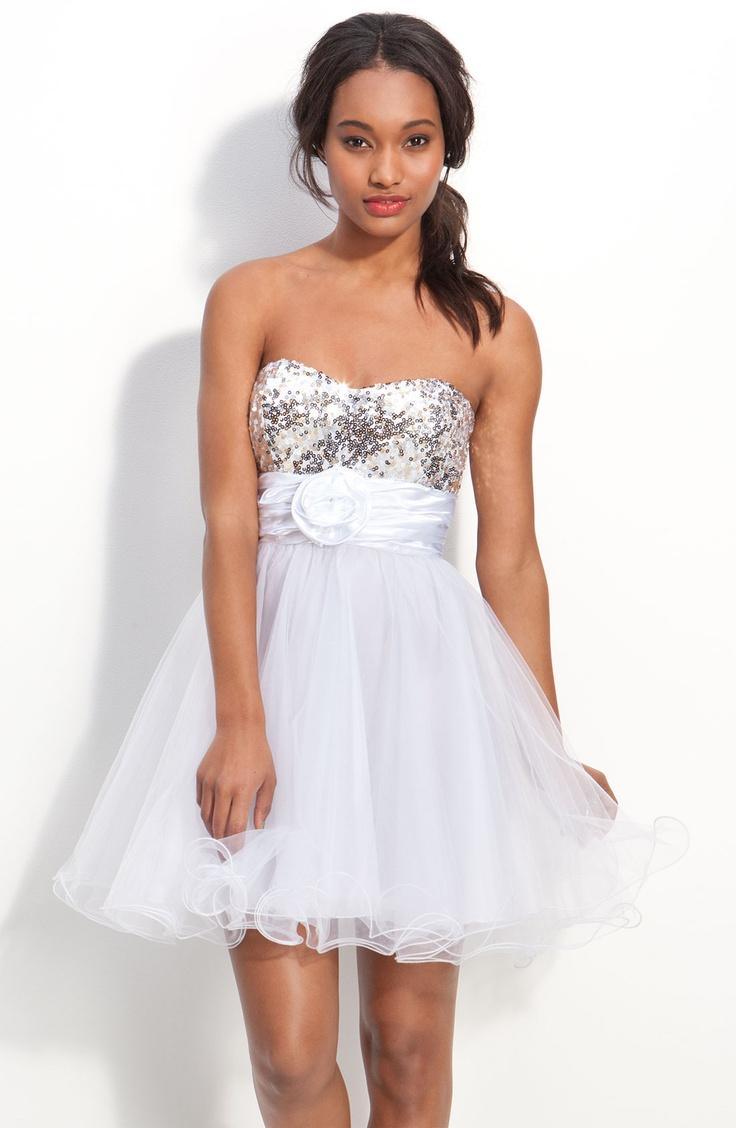 Diamond Ring White Baby Doll Dresses For Juniors