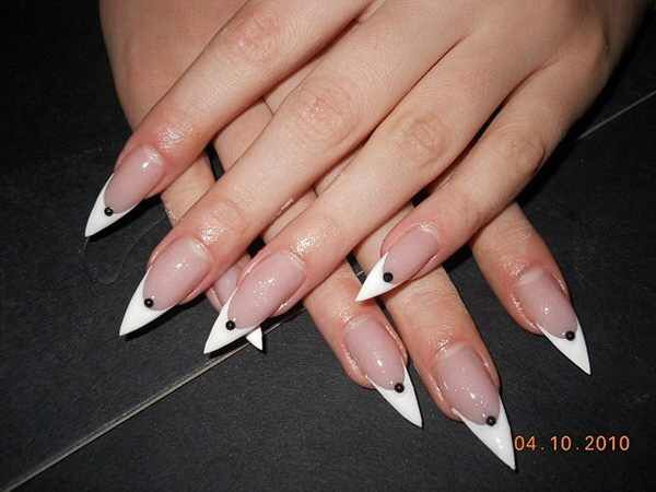 Pointy nails French | Nails | Pinterest