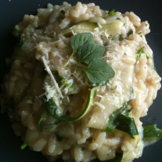 Herbed Risotto with Zucchini Ribbons Http://mrs-shaffer.tumblr.com