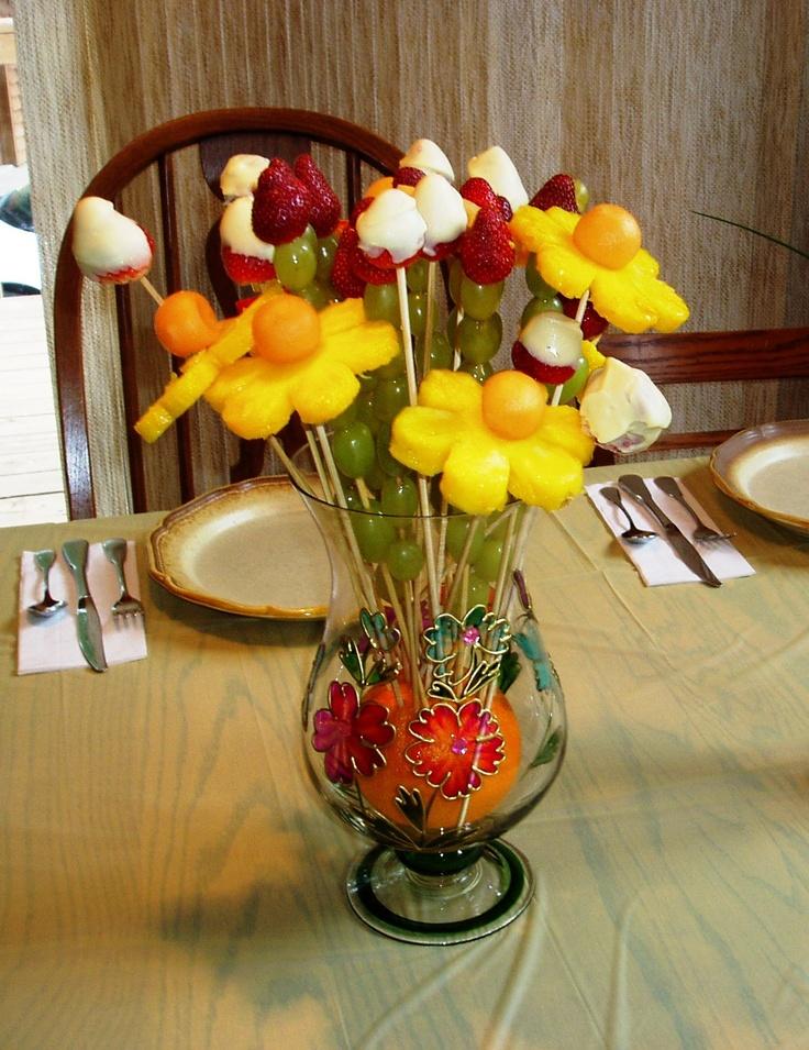 Vase Of Fruit Flowers Yummy Food Pinterest