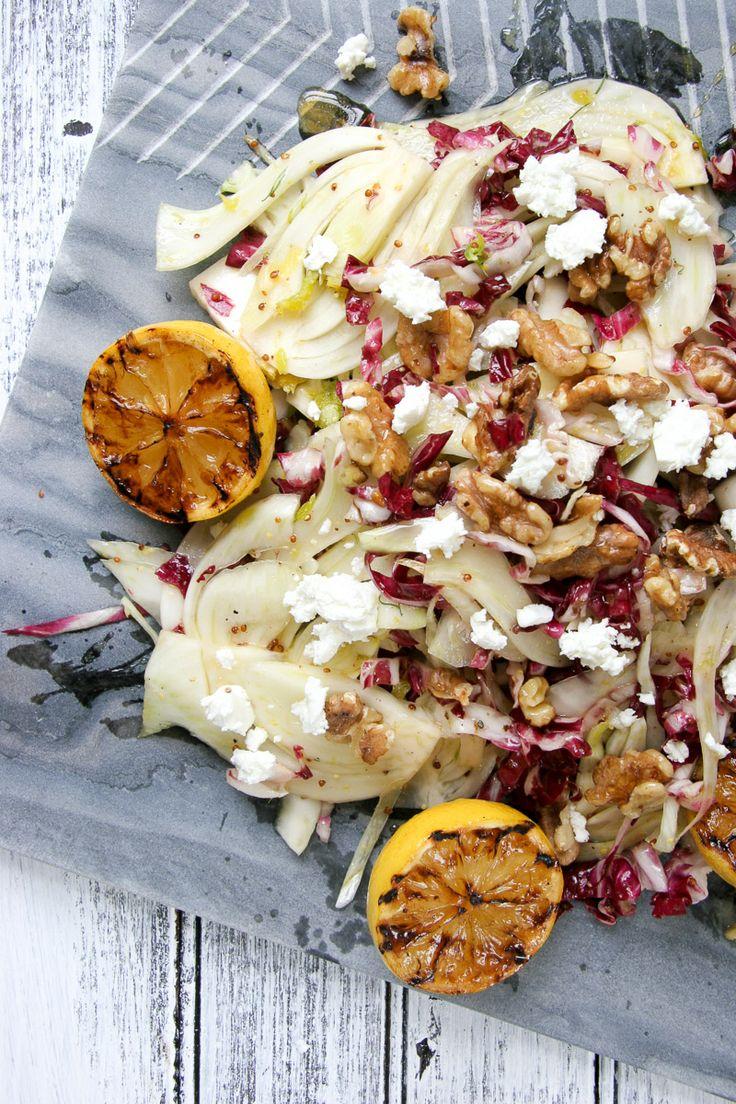 ... Radicchio Salad w/ Grilled Lemon Vinaigrette #salad #healthy #citrus
