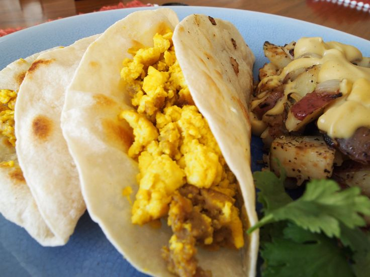 Vegan Sausage & Egg Breakfast Tacos w/ Hashbrowns » Well Done Vegan ...