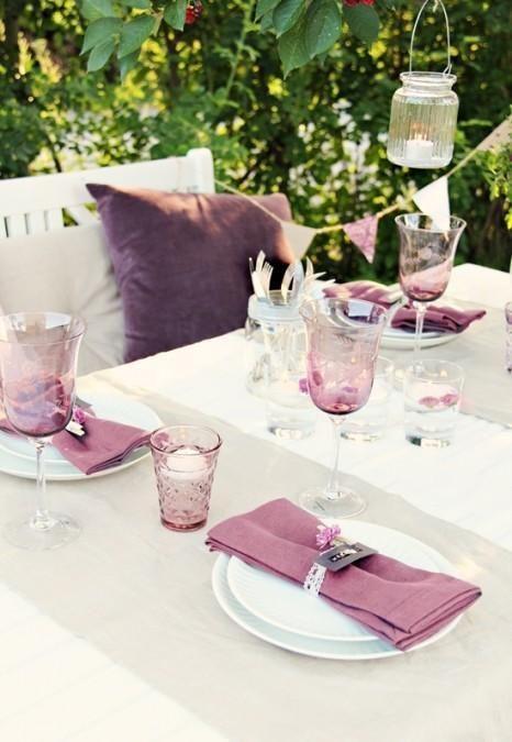#outdoor #decor #table #purple