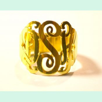 Monogram Ring! Handmade in Wilmington NC  | PREPPY way of life
