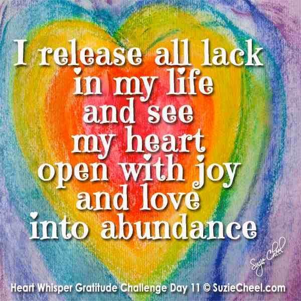 Heart whisper gratitude challenge day 11 releasing what no longer