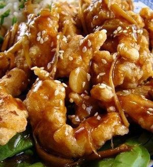 Crispy Garlic-Ginger Chicken... Got chewed out for not eating enough ...