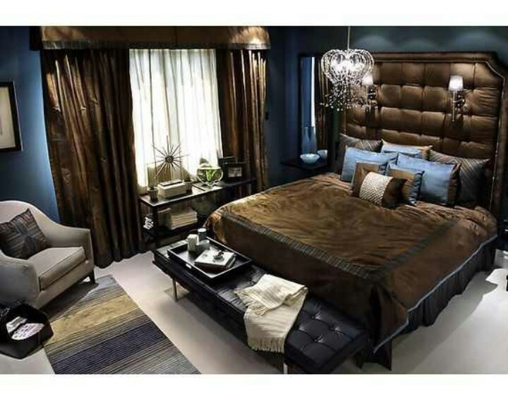 Brown navy blue bedroom my dream home - Navy blue and brown bedroom ...