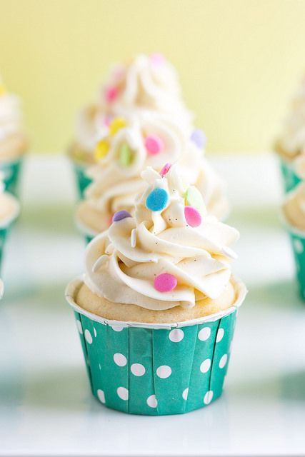 Homemade Funfetti Cupcakes with Whipped Vanilla Buttercream