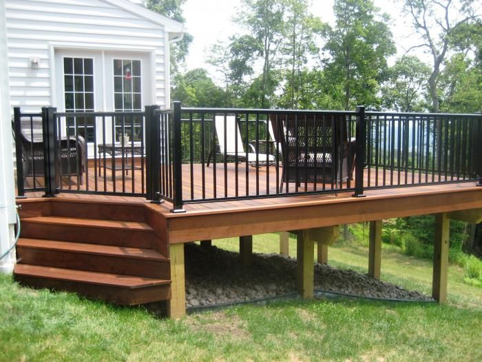 Best Deck With All Black Aluminum Railing Outdoor Deck Awning 400 x 300