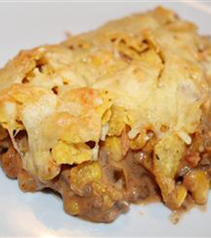 Beef Nacho Casserole. Will want to add taco seasoning and have taco ...