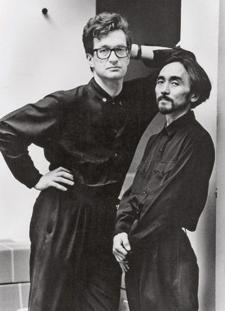 "Yohji Yamamoto & Wim Wenders _ From yy's book My Dear Bomb:  ""I was born in the ruins of postwar Tokyo and met Wim Wenders some decades later. By some bizarre twist of fate we both spoke of the same memories, and from that instant on we were bound by the deepest of friendships."""