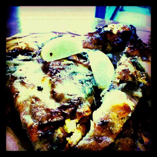 Sweet potato, pasilla pepper, feta, lime, garlic oil pizza from ...