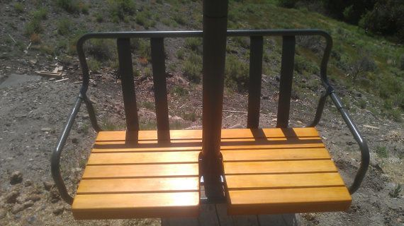 Restored vintage 1960 s crested butte colorado ski lift chair porch s
