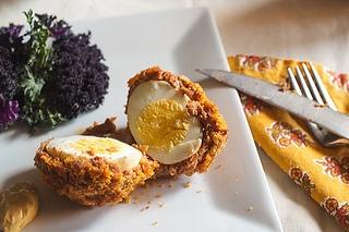 Chorizo Scotch Eggs #SundaySupper - Made with Pork sausage instead of ...