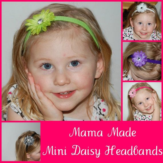One Mini Daisy Headband. $5.00, via Etsy.