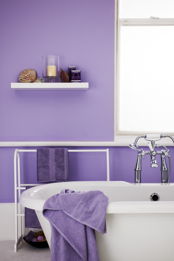 Purple Bathroom Upstairs Bathroom Pinterest