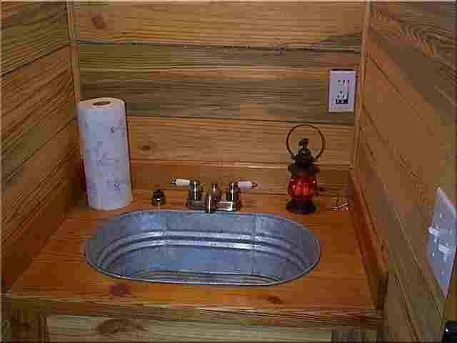 galvanized tub sink