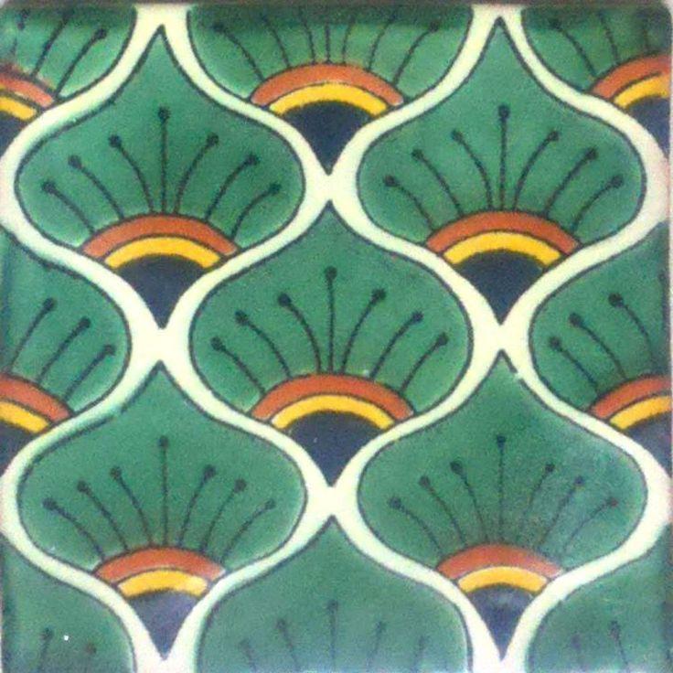 90 Mexican Ceramic Tiles Wall Or Floor Use Clay Talavera Mexico Potte
