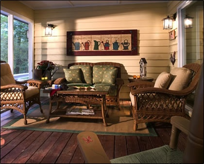 A screened in porch for a client in Highlands, NC, this #outdoorliving space makes entertaining a breeze!