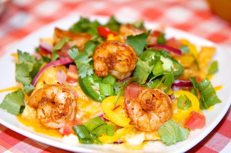Baked Shrimp Nachos Recipe #nomnomnom | Recipes: Snacks, appetizers a ...