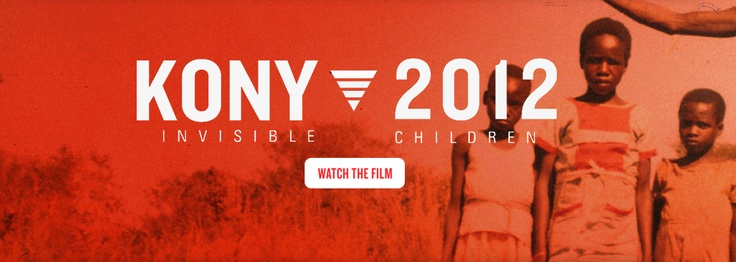 I want to share this with the world - if you haven't already watched the Kony video, do it now.  Kony2012