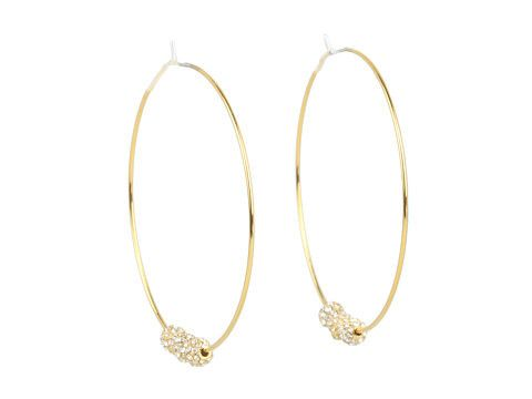 Michael kors fireball whisper hoop earrings
