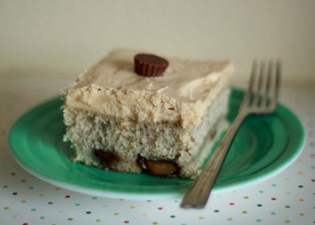 ... Peanut Butter Cup Banana Cake with Peanut Butter Cream Cheese Frosting