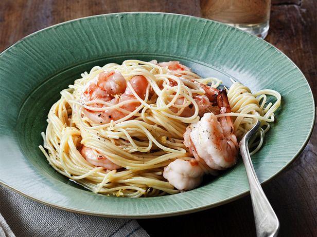 Lemon Pasta with Roasted Shrimp