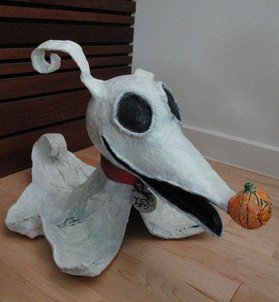 Halloween custom paper mache decor 2 for Paper mache christmas