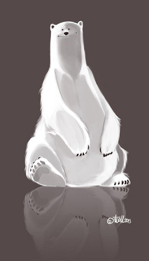 Bear draft by Claude Gouspillou, via Behance