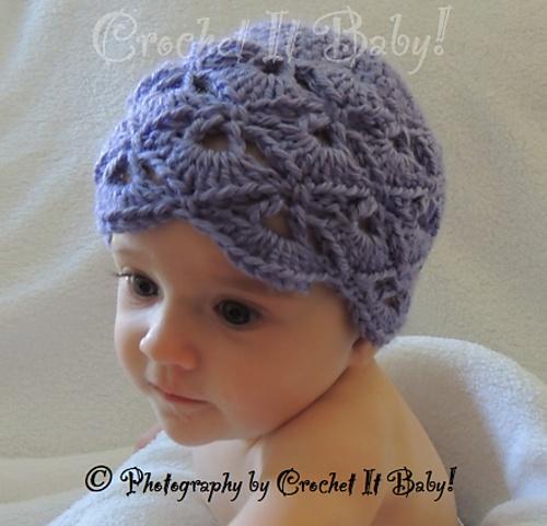 Crochet V Stitch Hat : Ravelry: Fanned V Stitch Hat - 4 Sizes pattern by Crochet It Baby