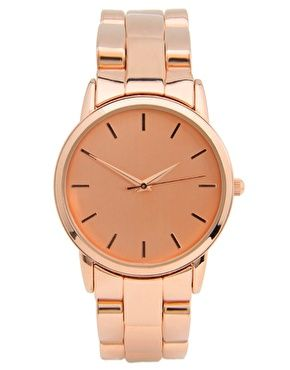 Rose Gold Effect Retro Style Oversized Watch ++ ASOS
