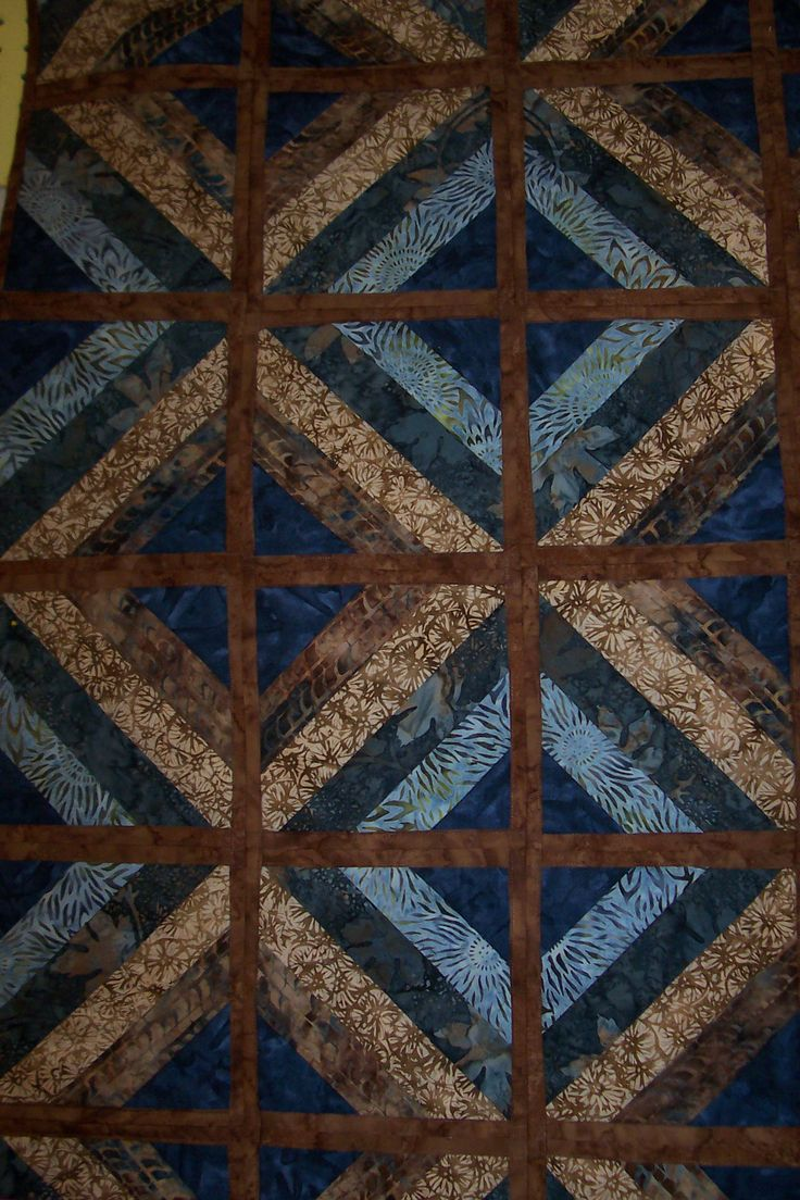 Fun And Done Quilt Blue Amp Brown Quilting Pinterest