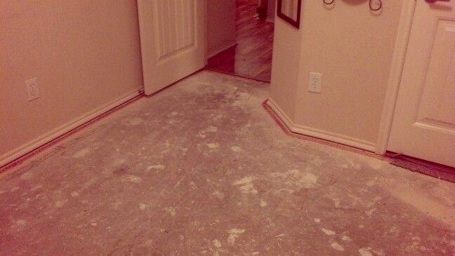 Bare Concrete Flooring : Step one brown bag floor bare concrete flooring pinterest