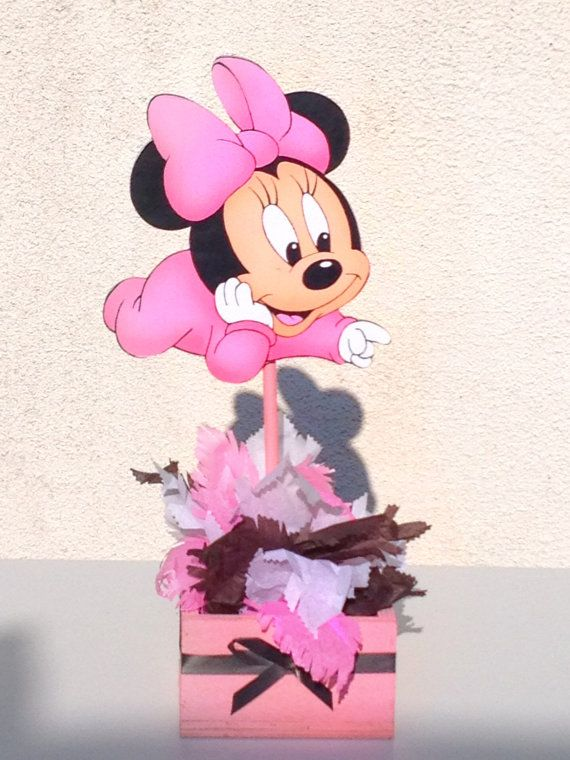 baby minnie mouse large centerpiece for 1st birthday or baby shower