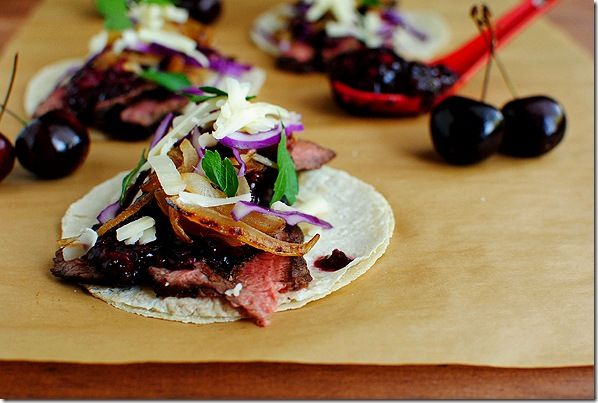 Steak and Cherry Chipotle tacos | paleo goodness | Pinterest